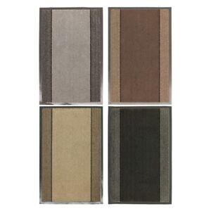 JVL Miracle Striped Machine Wash Barrier Door Floor Mat, 40x60cm or 60x90cm