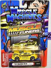 MUSCLE MACHINES MUSCLE TUNERS '03 MAZDA RX-8 RJ DE VERA SERIES YELLOW