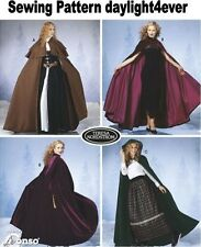 Women Cape Costume 3 Styles with Hood Simplicity Sewing Pattern 5794 New XS-L #k