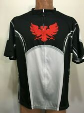 Primal Mens 3XL Bike Cycling Jersey Black Red Gray White Short-Sleeve Flaw