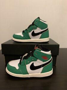 Air Jordan 1 OG TD Lucky Green Size 7C CU0450-300