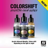 Vallejo Colourshift Eccentric Custom Metallic 17ml Airbrush Acrylic Paints Range
