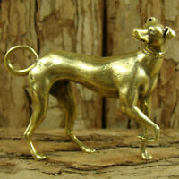 Solid Brass Greyhound Figurine Statue Dog Decoration Ornament Animal Figurines