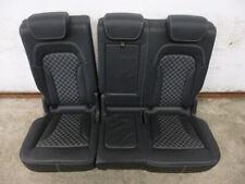 Audi Q5 SQ5 Exclusive Rauten Waben Leder Rücksitzbank Rückbank schwarz leather