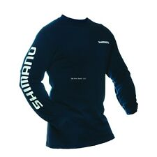 New Shimano Long Sleeve Fishing T-Shirt M Navy Med ATEELSMNV