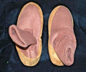 Adult Unisex Tan Cardigan Slipper Socks 1 Size  Ladies Large  Mens Small   S5700