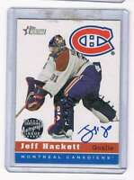 2000-01 Heritage Autographs #HAJH Jeff Hackett NM-MT NM-MT Auto Canadiens
