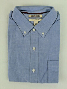 Goodthreads Mens Slim-Fit Short-Sleeve Solid Oxford Shirt with Pocket Size Large