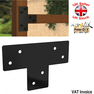 PERGOLA Black Decorative JOIST HANGER Support Bracket Middle Beam 170x255x2.5mm