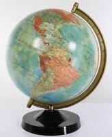 Räths Politischer Erdglobus DDR 1975 Bakelit Vintage Earth Globe GDR