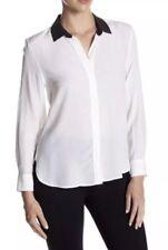 NWT Equipment Leema Contrast Collar Shirt. Size L.