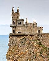 Breathtaking Photo The Swallow's Nest Castle near Gaspra Republic of Crimea
