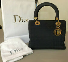 Iconic Black Lady Dior Bag - First Edition Vintage 90s w/dustbag and Dior bag