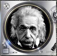 "Albert Einstein #2 Genius Slipmat Turntable 12"" LP Record Player, DJ Audiophile"