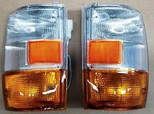 New Pair Isuzu Truck Elf Npr Nqr 450 Gmc Chevrolet Corner Lamp Amber 99-06
