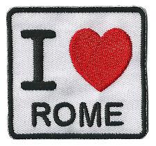 Patche écusson transfert I love Rome patch thermocollant brodé
