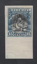 Liberia # 119 Imperf Mint UNISSUED LIGHT BLUE Cotton Spinning