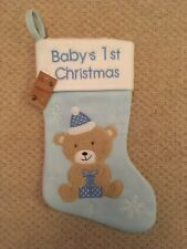 Baby's 1st Christmas Stocking Blue First Christmas