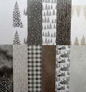 Designerpapier Geruhsame Tage von Stampin up NEU 6 Bögen ci.15,2 cm x 15,2 cm