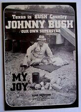 JOHNNY BUSH 1970 original POSTER ADVERT MY JOY
