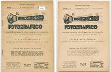 """R. Namias """"Il Progresso Fotografico"""" lotto di 2 riviste genn.-febbr. 1931 D696"""