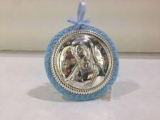 Capoculla Madonna in argento rotondo GUERRINI L539C regalo nascita