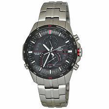 Casio Black Face Edifice Mens Analog Casual Silver Watch Eqs-a500db-1a
