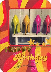 Kunst- Doppeltkarte  - Happy Birthday - Schuhe