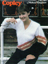 ~ Knitting Pattern For Lady's V-Neck Mohair Sweater ~
