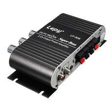 LEPY MINI CAR HOME STEREO HI FI AMPLIFIER 2 CHANNEL FOR IPOD MP3 PC DVD CD ED