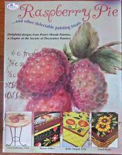 LINA HOFFMANN etal DECORATIVE ART BOOK RASPBERRY PIE FRUIT FLOWERS TOLE PAINTING