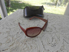 Fendi Women Oversized Sunglasses Red Maroon F5348 615 130 Italy With Case Used