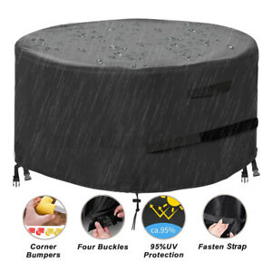 """28"""" Waterproof Fire Pit Cover BBQ Grill Firepit Protector Patio Garden Dustproof"""