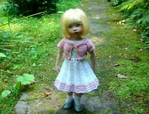Knitted Dress with Embroidery and a jacket for 10 inch Helen Kish Doll