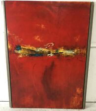 Dennis Carney Abstract Oil On Canvas Painting Lot 2113