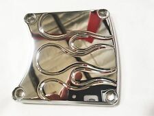 Harley Davidson Inspection Cover Chrome Ball Mill Flame