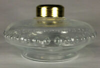 New Crystal Clear Glass Oil Lamp Font For Cast Iron Wall Bracket No. 2 Collar