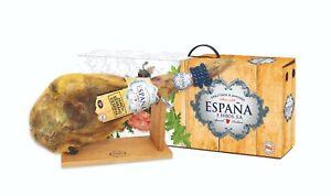 IBERIAN SPANISH SERRANO HAM  LEG  6 / 6.5 kg +  WOODEN HAM HOLDER / HAM STAND