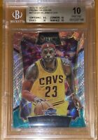 2015 LeBron James PANINI SELECT TRI COLOR PRIZM REFRACTOR 47 BGS 10 PRISTINE PSA