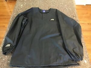 Mizuno Baseball Pullover Jacket Men's Large L Black
