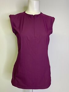 ATHLETA S Pacifica II Tank Top Rashguard Velvet Plum Sleeveless Shirt Size Small