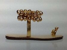 "Bernardo Vintage Couture ""Jingle Bells"" Gold Leather Sandals NIB Italy Size 8.5"