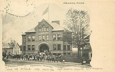 c1906 Lithograph Postcard; Central School, Orange MA Franklin County Posted