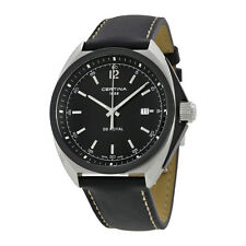 Certina DS Royal  Black Dial Leather Mens Watch C0104101605101