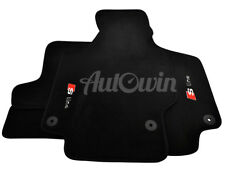 Audi TT 2006-2014 Black Floor Mats With Sline Logo With Clips LHD Side EU