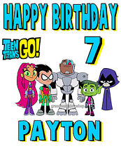 New Teen Titans Go Custom Personalized T Shirt Birthday Gift Add Name and Size