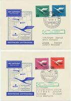 BUNDESREPUBLIK 1955 Aufnahme des LH Europaverkehrs m. Convair CV-340 nach LONDON