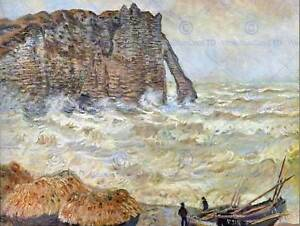 CLAUDE MONET STORMY SEA LA PORTE D'AVAL OLD MASTER ART PAINTING PRINT 616OMB