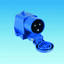 16a Mains Surface Mounted Inlet with Flap - Caravan / Motorhome PO112