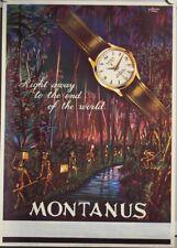 Original Plakat - MONTANUS - Uhren